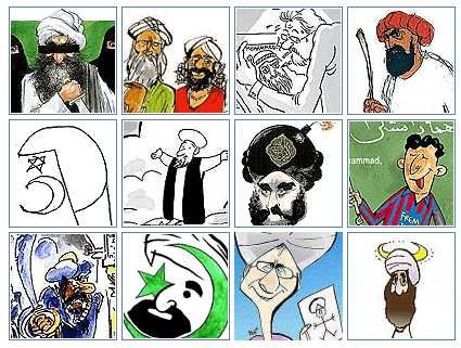 12 Cartoons originally published by Jyllands-Posten in September, 2005
